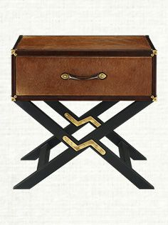 Keep all your accessories with this lovely small nightstand with gold details and different legs | Discover more Nightstands Ideas: www.bocadolobo.com