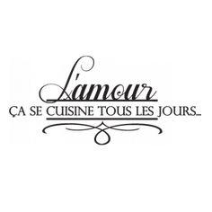 Stickers amour en cuisine