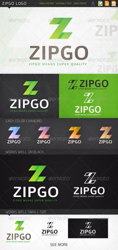 "Zipgo Logo #GraphicRiver Fully editable logo: Ai 10, EPS 10, CDR files gradient | color | grayscale | black | white logo versions CMYK 100% vector (resizable) easy color changing editable text (free fonts) Used fonts: Open Sans, Colaborate, and logo mockup. Zipgo Logo is a ""Z"" letter logo and can be widely applied in many businesses and spheres for company name starting with ""Z"". (Note: there is no mock-up in the main pack, mock-up images are for preview purposes only!). Created: 4 December…"