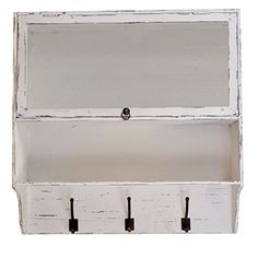 Distressed Wood Wall Cupboard With Shelves Drawer & Hooks (White) Home Office Collection http://www.amazon.com/dp/B00OZY65CE/ref=cm_sw_r_pi_dp_0KNTub0EKYHFQ