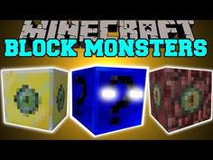Minecraft: BLOCK MONSTERS MOD (THE LUCKY BLOCK MONSTER WILL KILL YOU!) Mod Showcase - YouTube