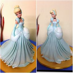 Золушка 3d Figures, Fondant Figures, Polymer Clay Disney, Cinderella Theme, Disney Wishes, Crystal Cake, Disney Figurines, Princesa Disney, Cold Porcelain