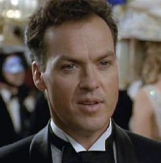 Michael Keaton as Bruce Wayne in ... in a tux.---Always had a thing for batman <3