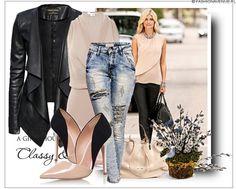 Stylizacja Ekskluzywna Kurtka Damska Skóra Waterfall Kardigan Duży Kołnierz Zamsz Dopasowana model #98 fashionavenue.pl sklep internetowy