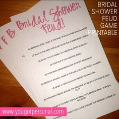 Bridal jeopardy for pink and gold bridal shower girlfriends tying bridal shower family feud party game solutioingenieria Gallery