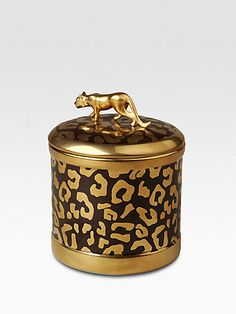 L'Objet - Leopard Candle - Saks.com  My weakness for all things leopard print continues.
