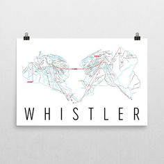 **MADE IN THE USA**  Youll love this amazing Whistler Mountain Art Print! This Whistler ski map shows all of the trails and lifts at Whistler Ski Resort. This will fit any decor, and also makes a great gift. If you love Whistler , BC, this is for you!  This print is our artistic minimalist take on the ski map of Whistler . We try to make the map as accurate as possible, but because its done by hand, it might not be 100% accurate.  The frame/matte is not included. The default layout of th...