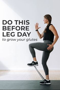 Activating your glute muscles is crucial if you want to grow your booty at home. We have so many big, powerful muscles in the lower body, sometimes the glutes can be overpowered! It sends the signal to the muscles in your butt to start firing, so they don't get overpowered by other powerhouses in your lower body, like your quads and hamstrings!