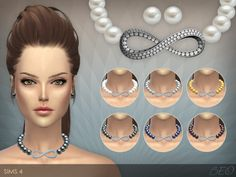beocreations:  Infinity pearls necklace and stud earringsDOWNLOAD