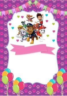 Disney Cars Birthday, Girl 2nd Birthday, 3rd Birthday Parties, Birthday Bash, Paw Patrol Birthday Invitations, Baby Posters, Handmade Invitations, Paw Patrol Party, Writing Paper