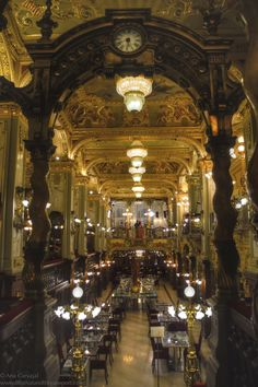 https://flic.kr/p/wwcr3C | Cafe New York | Budapest, Hungary. Opened in 1894 and hosted the elite of Hungary's literary world. It fell under disrepair under communist rule and was revived when the Boscolo Italian chain of hotels renovated the building and brought it back to its former glory.