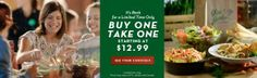 Olive Garden: Printable $10 off $30 Coupon + Buy One Entree for Dining Get One FREE