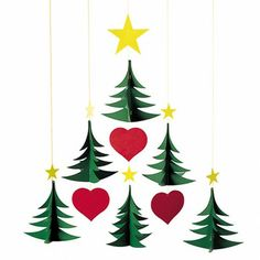 Flensted Mobiles: Christmas Trees Mobile