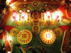 Vintage Hocus Pocus pinball machine detail