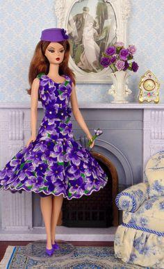 Violet Fields for Silkstone Barbies by HankieChic on Etsy