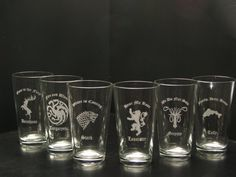 A housewarming gift for me perhaps.. just putting it out there :p Game of Thrones inspired House Pints Set of 6 by TheGoldenGear, $37.00