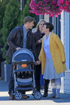 Ginnifer Goodwin, Josh Dallas, and Jennifer Morrison shoot scenes for Once Upon a Time in Vancouver