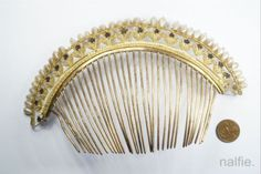 2-x-ANTIQUE-EARLY-19th-CENTURY-PINCHBECK-HAIR-COMB-PROJECTS-1-NO-RESERVE