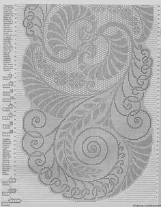 this pin was discovered by Crochet Patterns Filet, Crochet Table Runner Pattern, Cross Stitch Patterns, Crochet Leaves, Thread Crochet, Crochet Doilies, Graph Paper Art, Cross Stitch Heart, Crochet Magazine