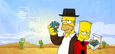The Simpsons go Breaking Bad