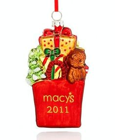 Macys Holiday Lane Bag of Gifts 2011 Christmas Ornament *** For more information, visit image link. Christmas Decorations, Christmas Ornaments, Holiday Decor, Gift Baskets, Image Link, Decor Ideas, Free, Amazon, Bag