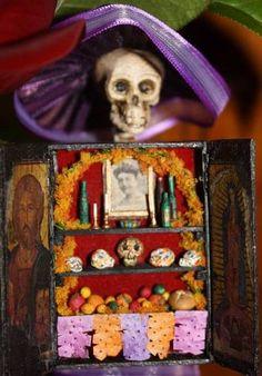 Day of the Dead - matchbox shrine