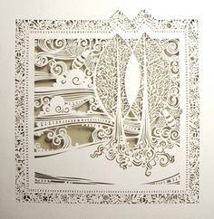 Artist Sara Burgess creates incredible cut paper designs. via Oh So Beautiful Paper