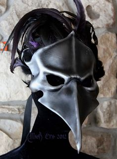 Corvus BautaHandmade leather mask by MaskEra on Etsy Mask Face Paint, Gothic Mask, Crow Mask, Costume Carnaval, Skull Crafts, Gothic Culture, Steampunk Mask, Wildest Fantasy, Skull Candle