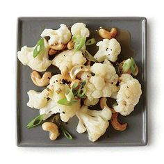 Cauliflower with Sesame Toasted Cashews Recipe