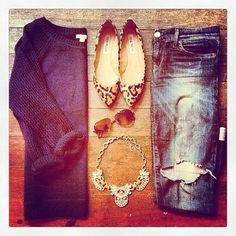 In love@Lisa Phillips-Barton Phillips-Barton Phillips-Barton Phillips-Barton Punderson Case#fashion#denim#sweater#fall#classy#leopard
