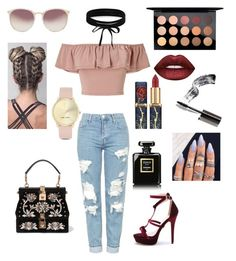 """""""Bloggers life"""" by sisca-i on Polyvore featuring Topshop, MAC Cosmetics, Lime Crime, Miss Selfridge, Boohoo, Linda Farrow, Dolce&Gabbana, Nine West, Chanel and Bobbi Brown Cosmetics"""