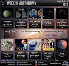 This Week in Astronomy (Sept 28-Oct4)http://sphericalchickensinavacuum.wordpress.com/2013/10/10/this-week-in-astronomy-sept-28-oct-4/