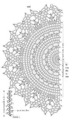Crochet Doily Diagram, Crochet Stitches Patterns, Crochet Chart, Thread Crochet, Filet Crochet, Crochet Motif, Crochet Designs, Crochet Doilies, Crochet Round