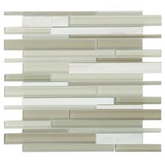 Mineral Tiles - Linear Glass Stone Mosaic Tile Sand White, $23.00 (http://www.mineraltiles.com/linear-glass-stone-mosaic-tile-sand-white/)