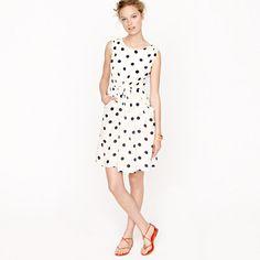 J.Crew's Scatter-dot dress