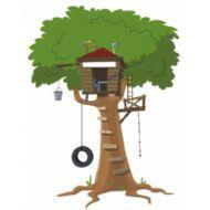Ağaç Ev Çocuk Odası Duvar Sticker  http://www.stickerdepo.com/