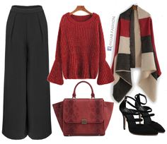 Red For Winter - Outfit Idea
