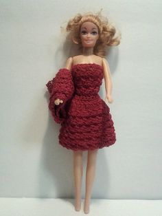 Free Crochet Barbie Dresses | Free Shipping in USA! Crochet barbie dress and shawl