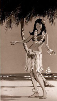 hula girl - Google Search: