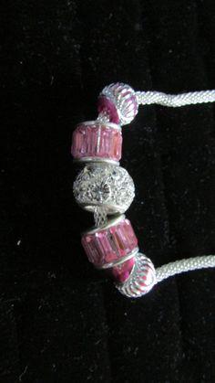 collana con perle a foro largo tono rosa di uncinettotuttomatto su Etsy