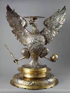 White Eagle of Poland - heraldic base for the royal crown by Abraham I Drentwett and Heinrich Mannlich, 1665-1666, Moscow Kremlin, commissioned by John II Casimir Vasa