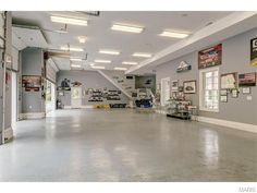 Perfect garage space for a classic or modern car lover! 13350 Buckland Hall Road, Town and Country, MO 63131.