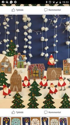 Crafts For Kids, Arts And Crafts, Paper Crafts, Diy Crafts, Christmas Crafts, Christmas Decorations, Holiday Decor, Art Lessons Elementary, Classroom Decor
