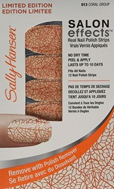 Sally Hansen Salon Effects Real Nail Polish Strips #013 Coral Group  #SallyHansen