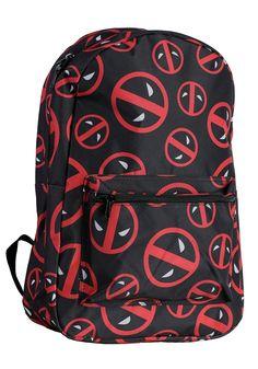 f21f41ea74 Marvel Deadpool Symbol Logo All Over Print Backpack Sale 50%. Now only   24.95 Deadpool