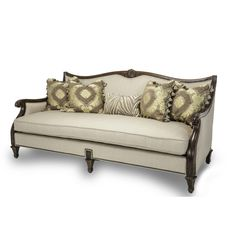 AICO Villagio Wood Trim Sofa - Opt1 - Sofas - Living