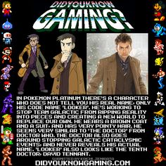Pokémon: Looker = The 10th Doctor. How did I not see that? Hahahahaha!