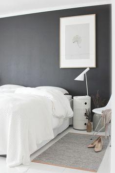 wand streifenmuster moderne schlafzimmer designs schwarz weiß ... - Schlafzimmer Weis Grau