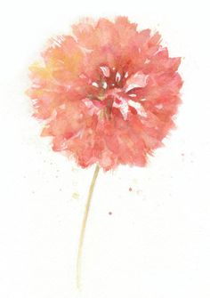 Flower+flower+print+art+Watercolor+art+print+by+ChiFungW+on+Etsy,+$16.00