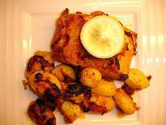 Recette de Morue au Four et ses Pommes de terre (bacalhau assado no forno com batatas assadas)